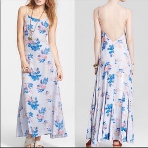 Free People Star Chasing Flowy Flora Maxi Dress